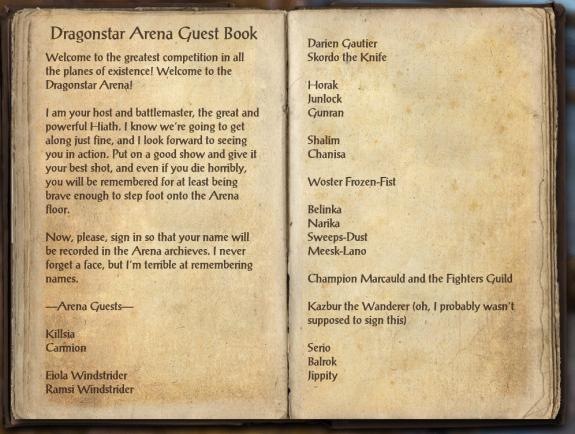 Arena book!